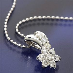 K18WG スウィート10ダイヤモンドネックレス(18金ホワイトゴールド).jpg